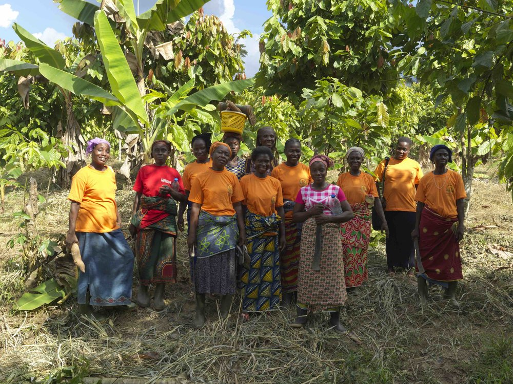 Members of CAYAT women's society, Biasso group. Picture: Peter Caton.