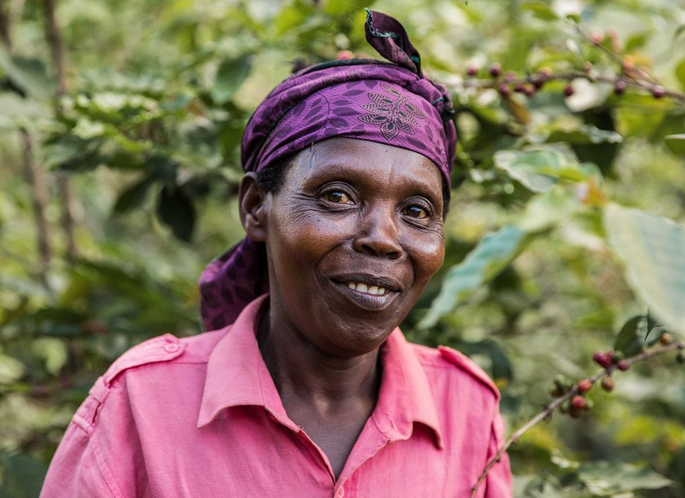 Coffee farmer in Butare, Rwanda. Photo: Matthew Harmer/Nice & Serious.