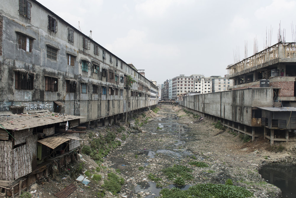 Landscape behind the informal garment factories at Keraniganj in Dhaka. This district host hundreds informal factories. Picture: Claudio Montesano Casillas.
