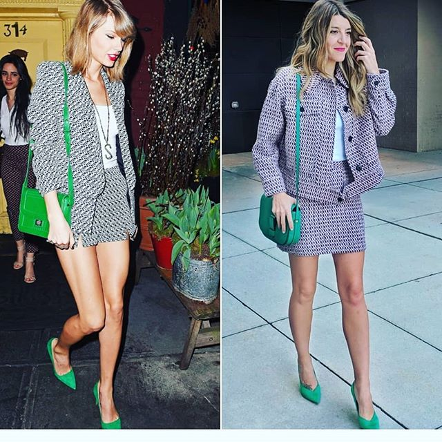 #GetTheLook ✨ Going matchy-matchy on a Wednesday courtesy of @taylorswift 💚 Tap for brands ☝️ Obsessed with how the matchy suiting makes a statement look. Definitely getting more of these this season ✨✨