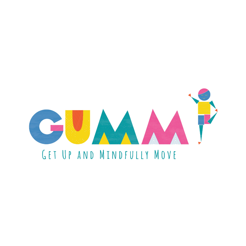 GUMM - Get Up and Mindfully Move   Logo design, marketing materials