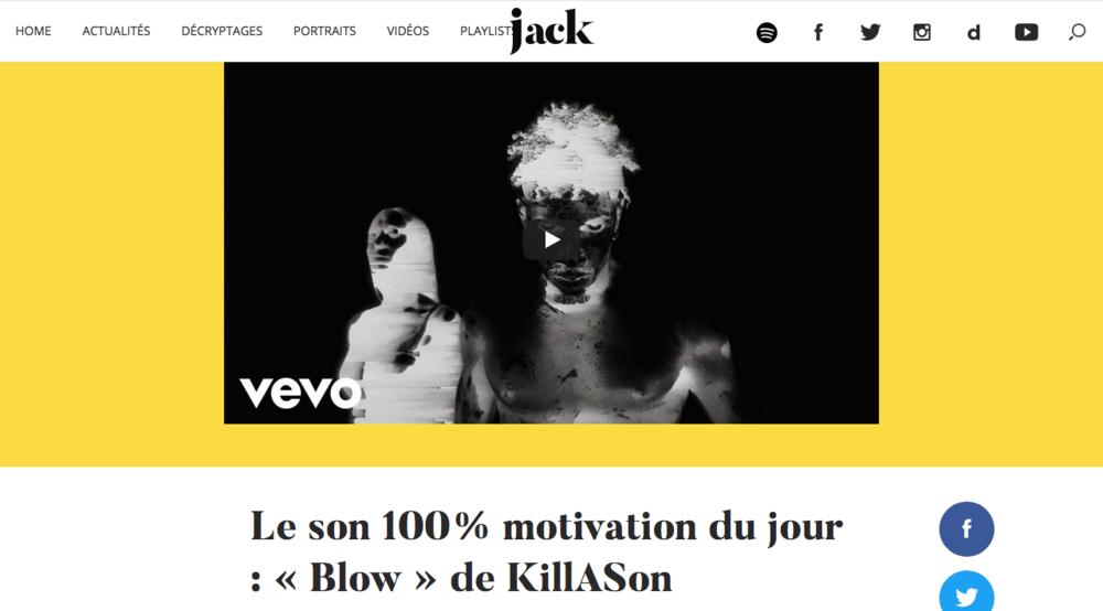 JACK - A LE VOIR PARADER CHEZ YVES SAINT LAURENT OU SUR SON COMPTE INSTAGRAM, DUR A CROIRE QUE KILLASON EST FRANCAIS