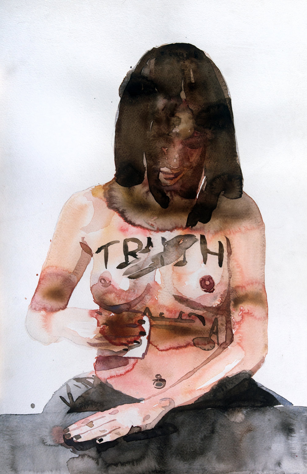 TRUTH l watercolor l 56 x 37 cm l 2015