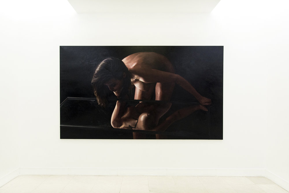 EGO (after Caravaggio) l 330x190 cm l oil on linen l 2016