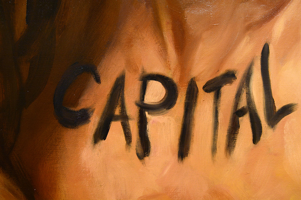 BEAUTY = CAPITAL (detail) / oil on linen / 260 x 173 cm / 2017