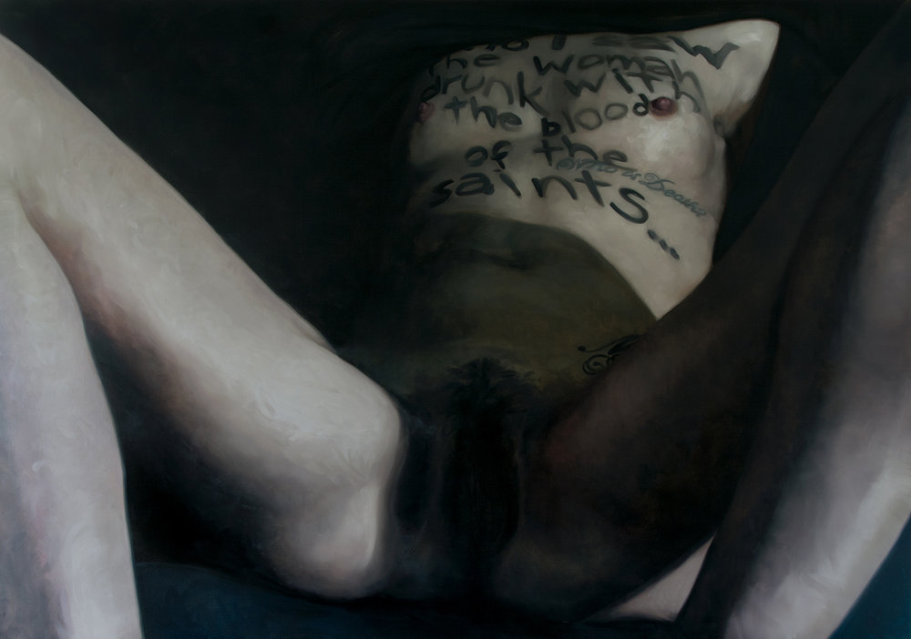 And I saw the women drunk with the blood of the saints / oil on linen / 280x200cm / 2015