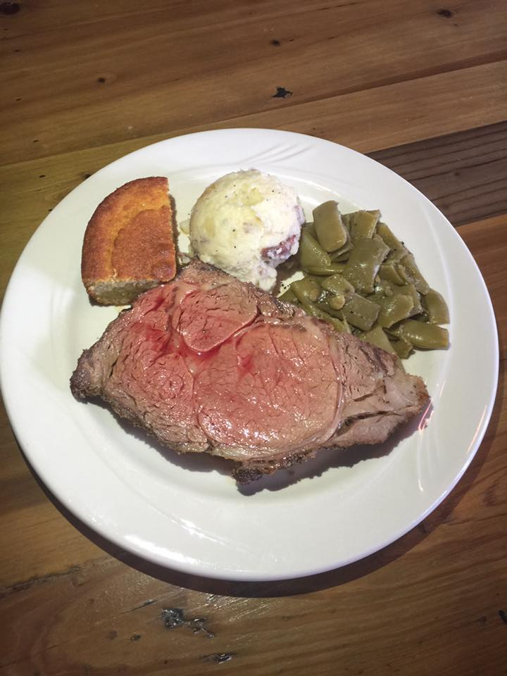Iron Fork Cafe prime rib special