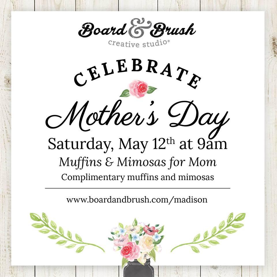 celebrate mothers day board & brush   LakeOconeeLife.com