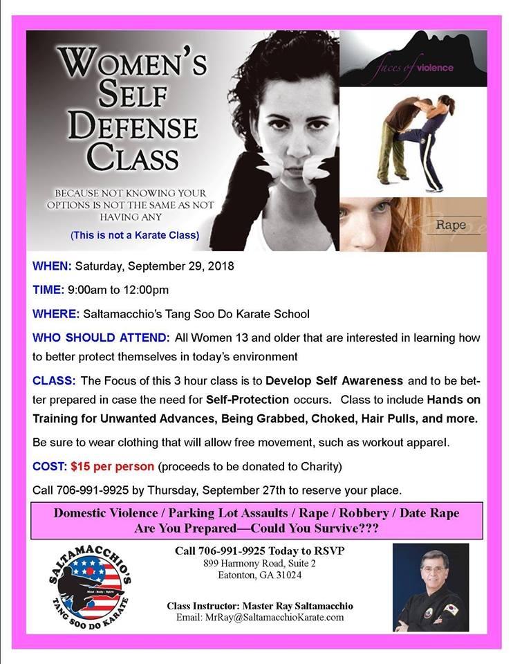 Saltamacchio's Women's Self Defense |LakeOconeeLife.com