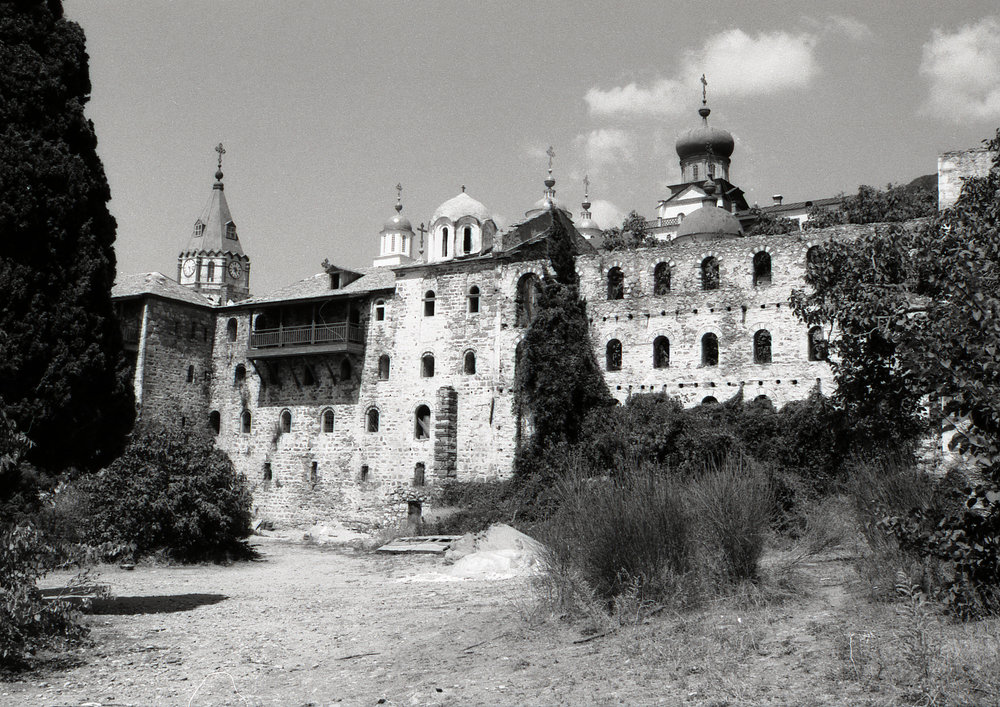 A monastary on Mt Athos, Greece