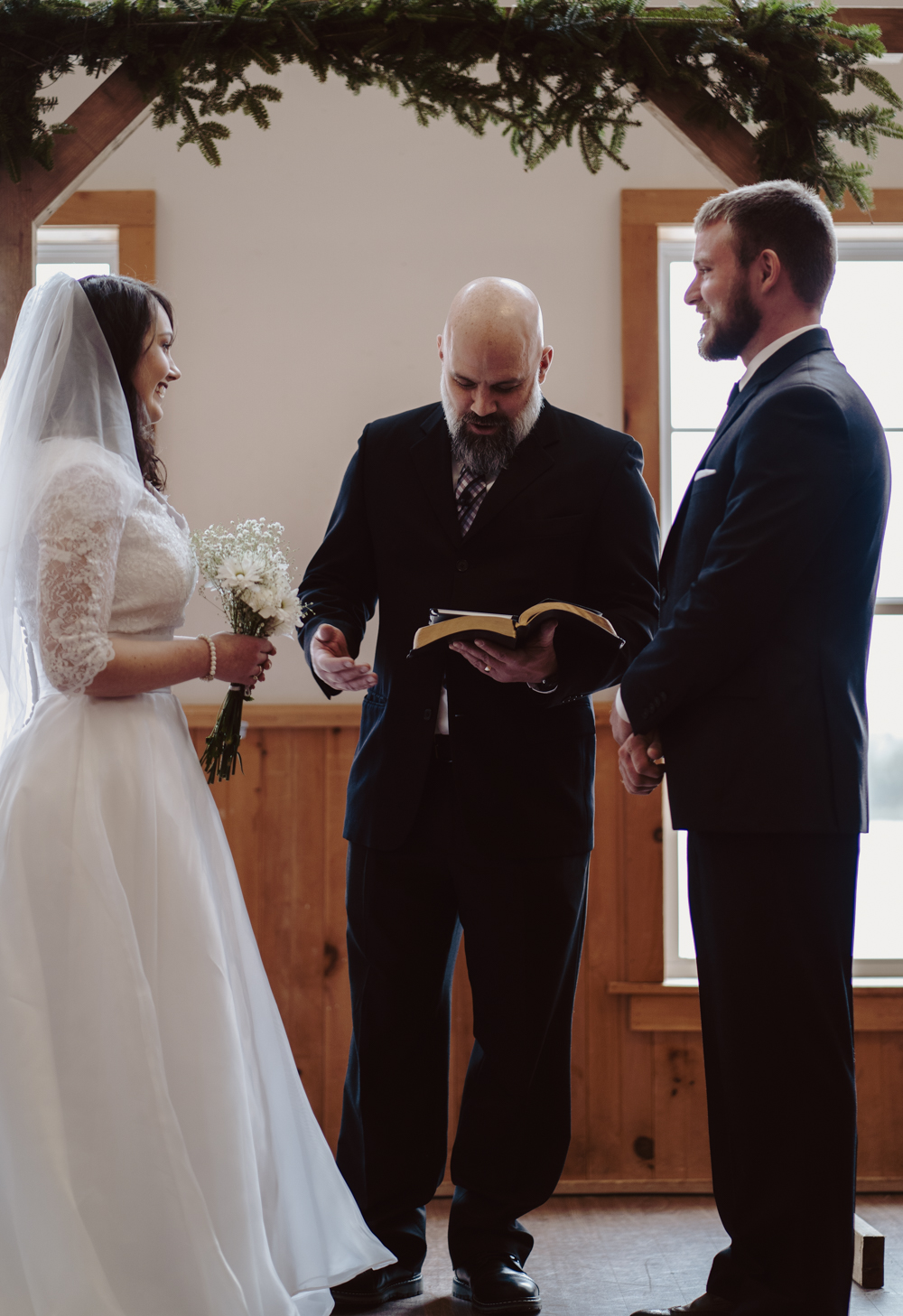 Having my dad perform our ceremony and marry us is one of the coolest parts of our wedding.