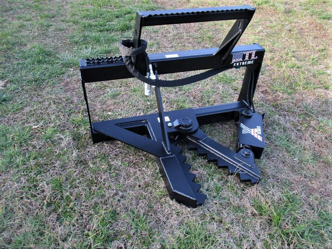 MTL X Series Tree Fence Post Puller Skid Steer Attachment