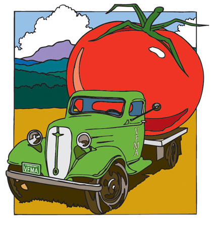 Illustration for Vermont Farmers Market Association logo