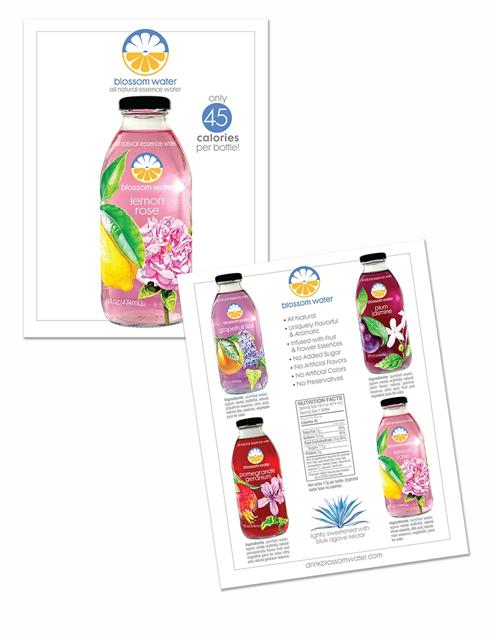 Sales card for Blossom Water
