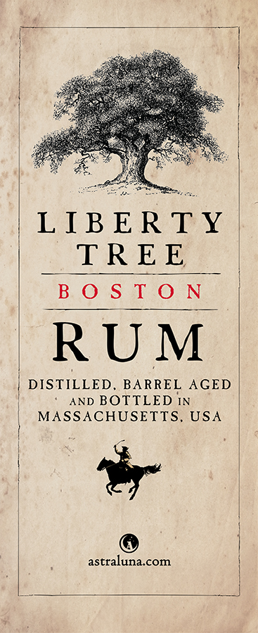 Trade show banner for Liberty Tree Boston Rum