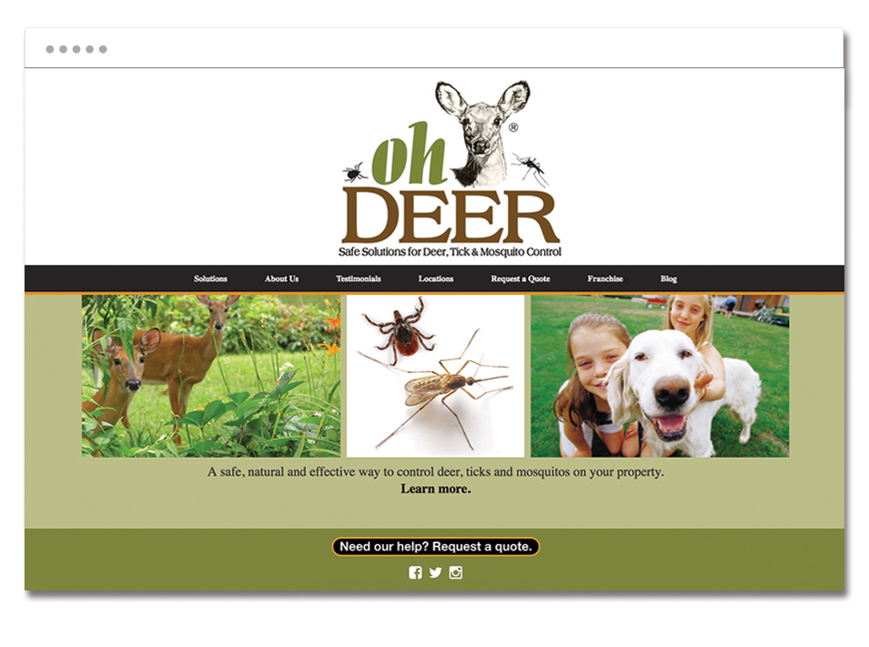 ohDEER's website homepage
