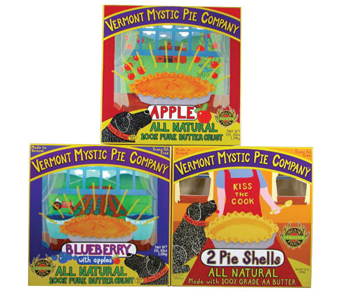 Apple, Blueberry and Pie Shell packages