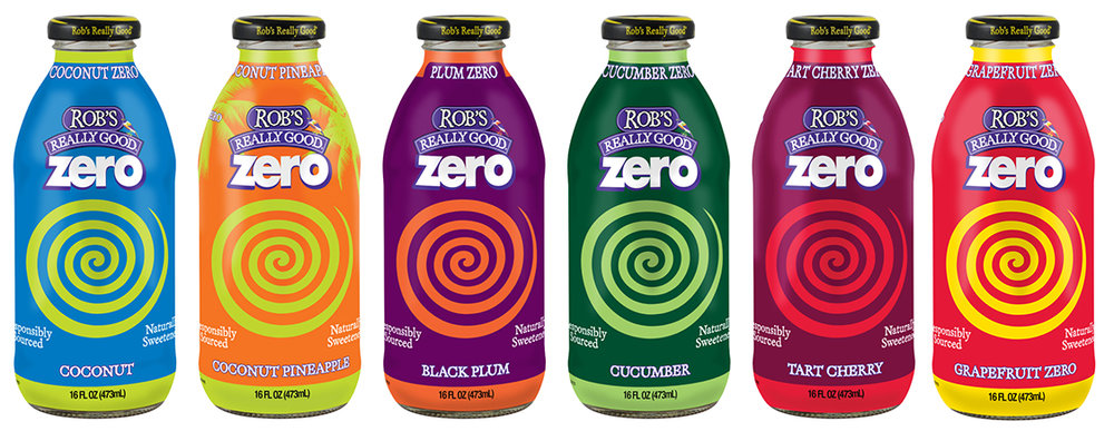 Rob's Really Good Zero, a no calorie organic juice beverage