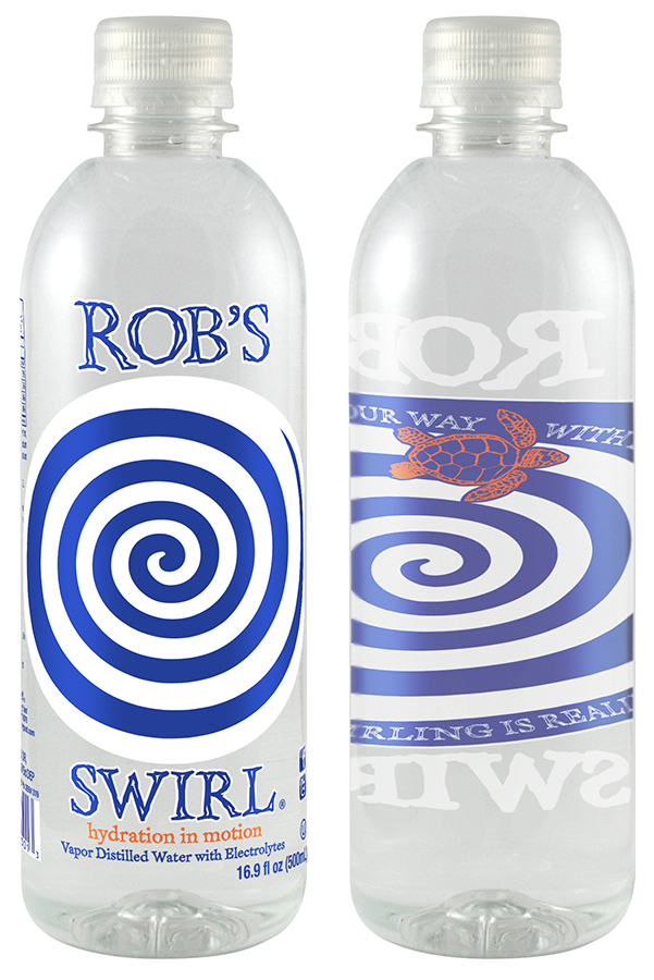 Rob's Swirl, an electrolyte infused premium water