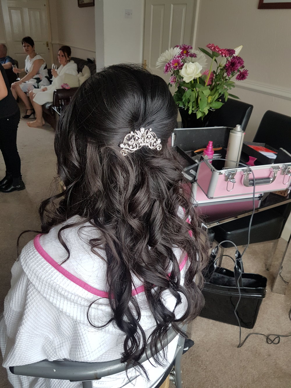 Bridal Hairstyle - Half Up Half Down