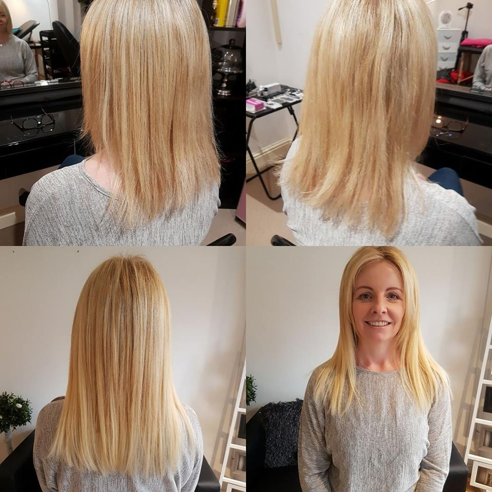 Micro Wefted Hair Extensions 16 Inches