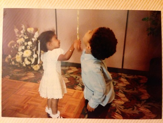 My cousin Josh @joshpalma and me at our Grandparents' 50th Wedding Anniversary 😌✨👏🏾 I still miss those socks! . . . Congratulations to you and @chelscpalma on your little bambina!!