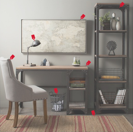 I came up with an image showcasing a room or scenario and highlighted all of the Target Items. Going back to our idea of wanting Target to be remembered as a one stop shop, this included but was not limited to home furnishing, food and household items.