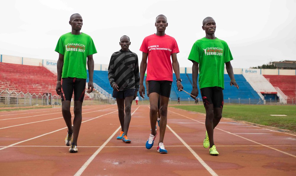Visually Impaired Kenyan Paralympic Qualifiers. – Photo by Wes Parnell
