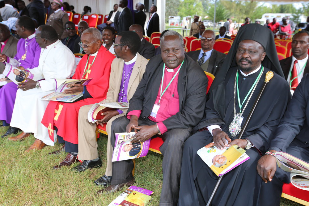 Interfaith religious leaders attended The Bishop's mass funeral