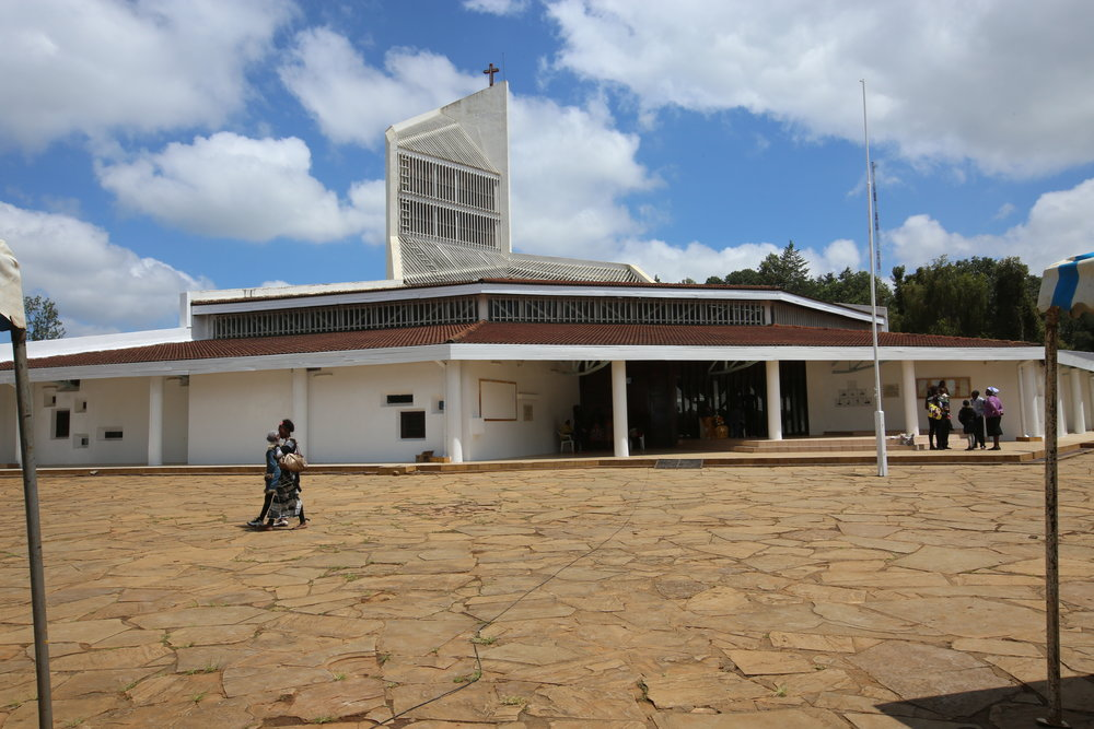 The service was held at the Sacred Heart Cathedral in Eldoret,Kenya