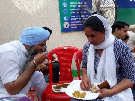 Gurpinder Kaur, sister of 25-year-old victim Manjinder Singh, in Delhi with a delegation of victims' families.