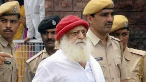 Asaram Bapu in police custody for a court hearing