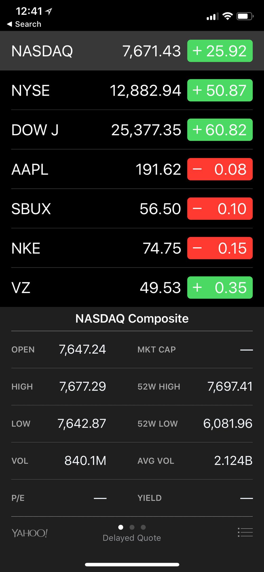Stocks App iOS 11