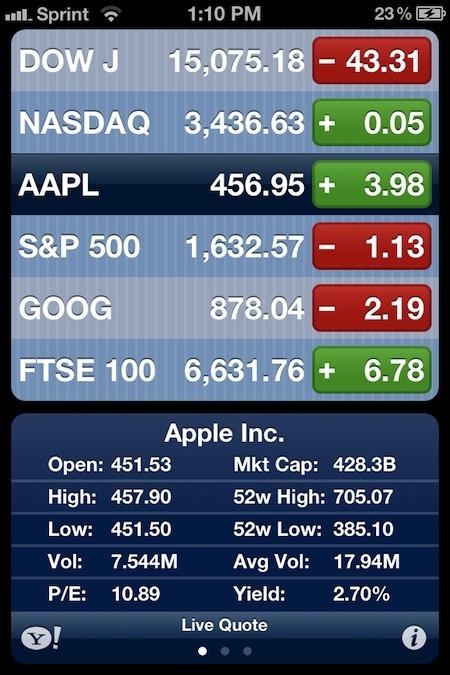 Stocks App iOS 1