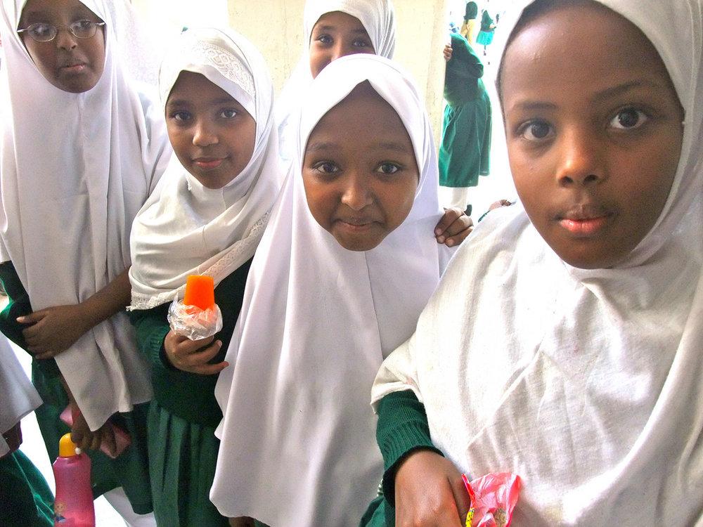 Muslim schoolchildren in Kenya