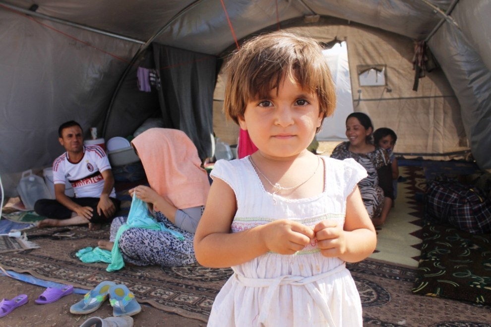 An Iraqi refugee girl. Photo by  Rachel Unkovic / International Rescue Committee.