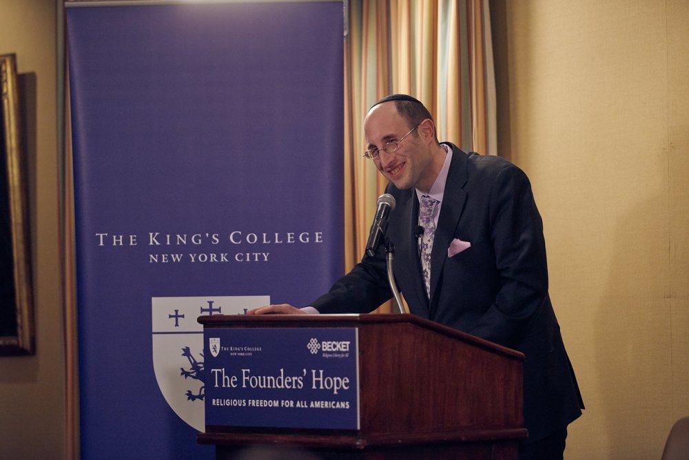Rabbi Dr. Meir Y. Soloveichik of the Congregation Shearith Israel in Manhattan. Photo by Rachel Cline.