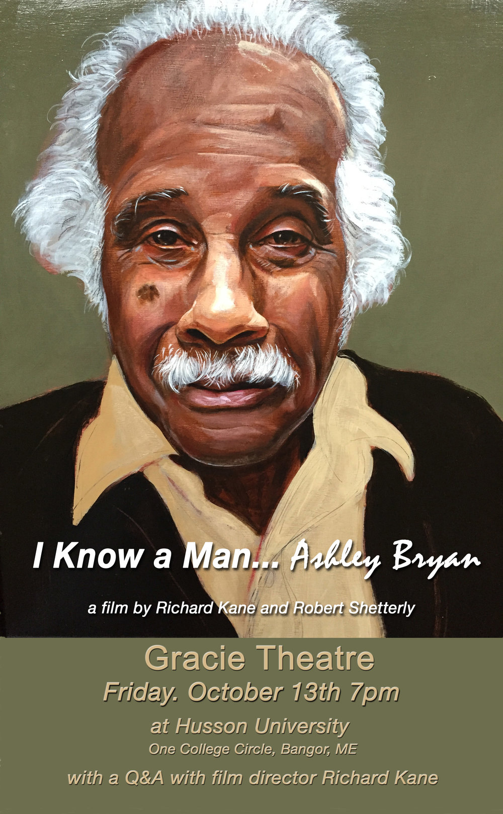 Free Screening of I Know a Man ... Ashley Bryan co-sponsored by Husson University, UMVA Maine masters, and weru Community Radio