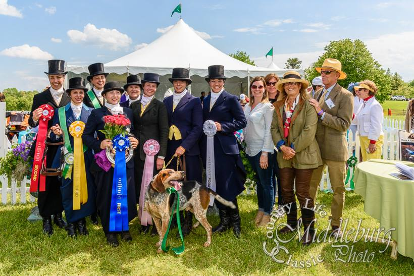 Congratulations to all of the ladies! From L to R: Stephanie Dowling, Sarah Martin, Amy Magee, Julie Nafe, Sarah O'Halloran, Becca Barker, Mary Musheno, Devon Zebrovious. (c) Photo by Middleburg Photo
