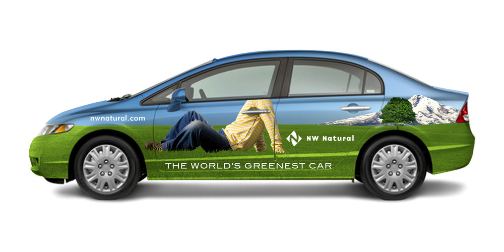 Northwest Natural Gas Car Wrap