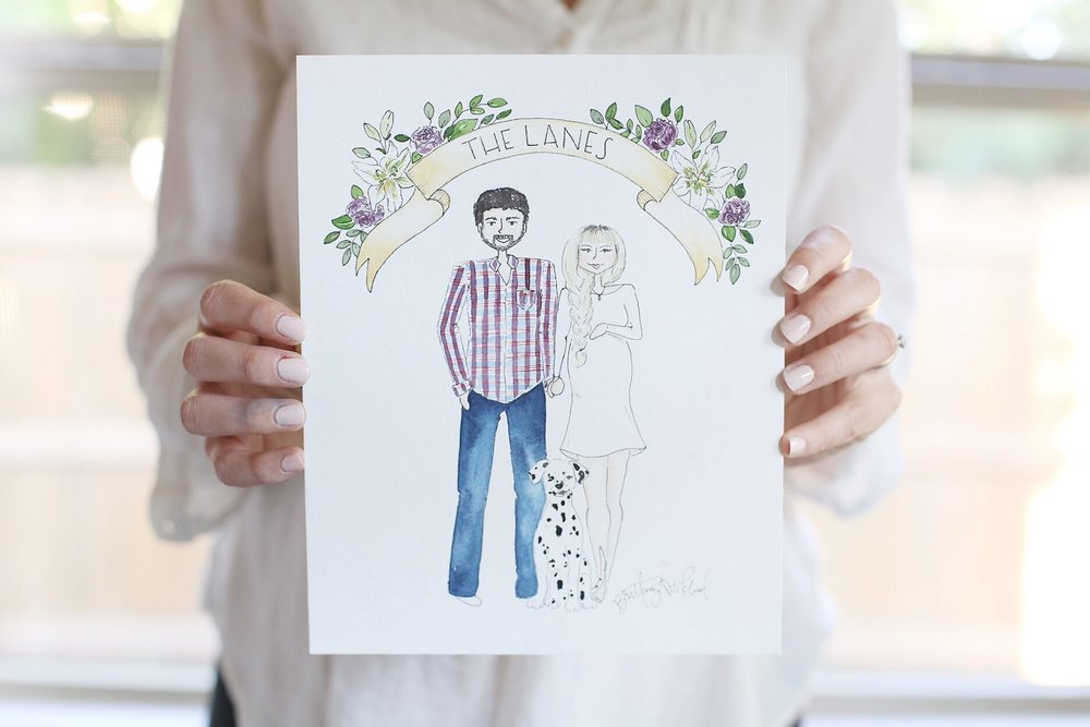 Brittany Viklund Watercolor Artist Portrait Painter Photographer Interior Styling Motherhood Blog Oklahoma City Wedding Gift Illustration