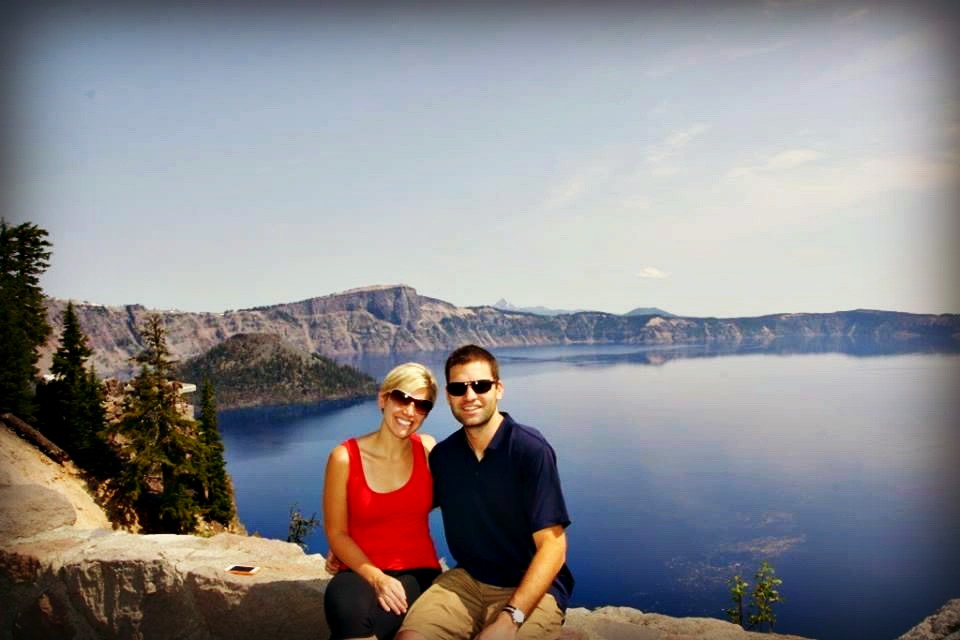 My husband and I at Crater Lake National Park