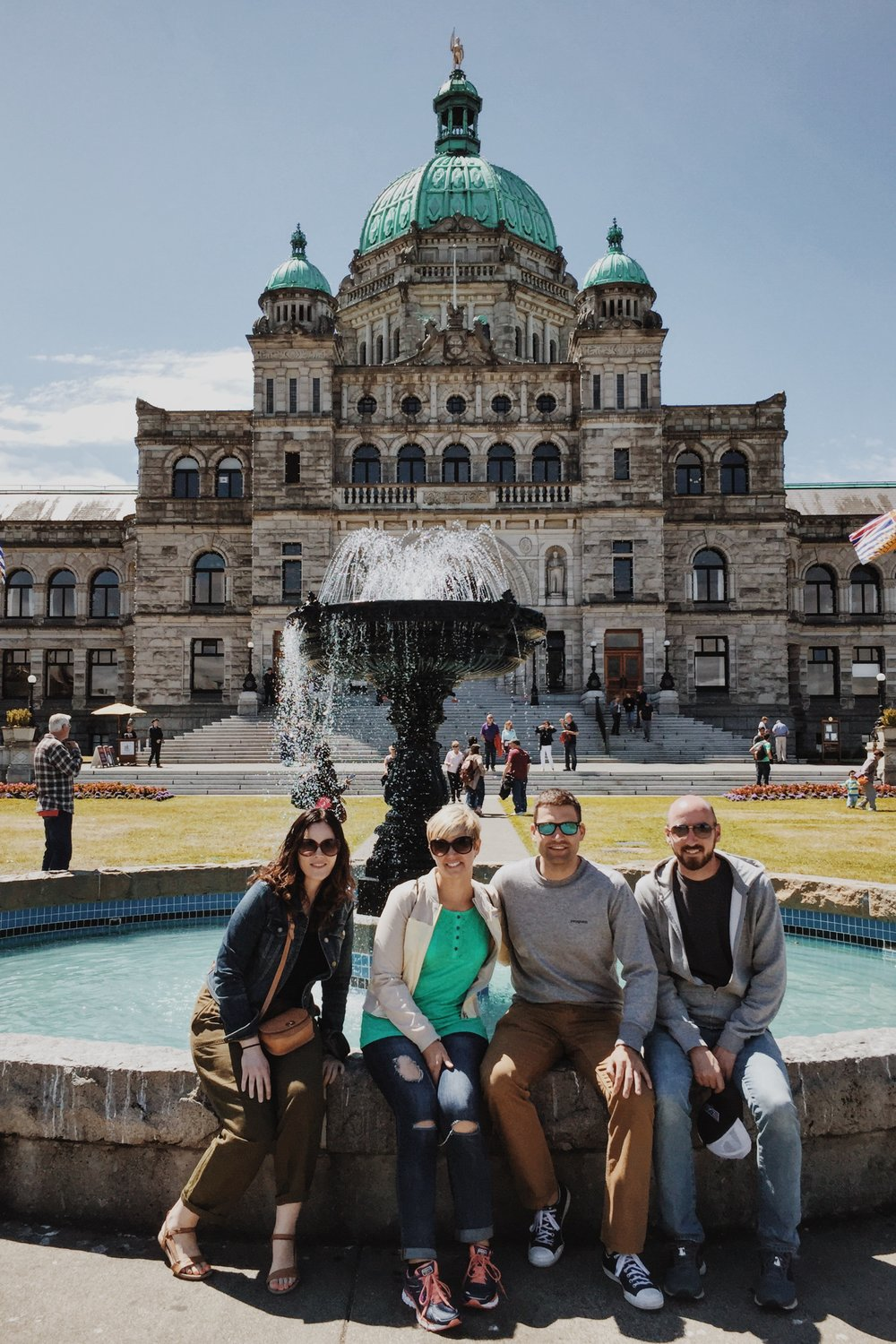 Our little group outside of the British Columbia Parliament