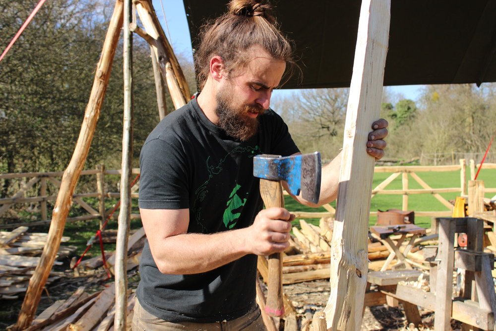 Jake builds traditional fences for hatfield forest days out in essex