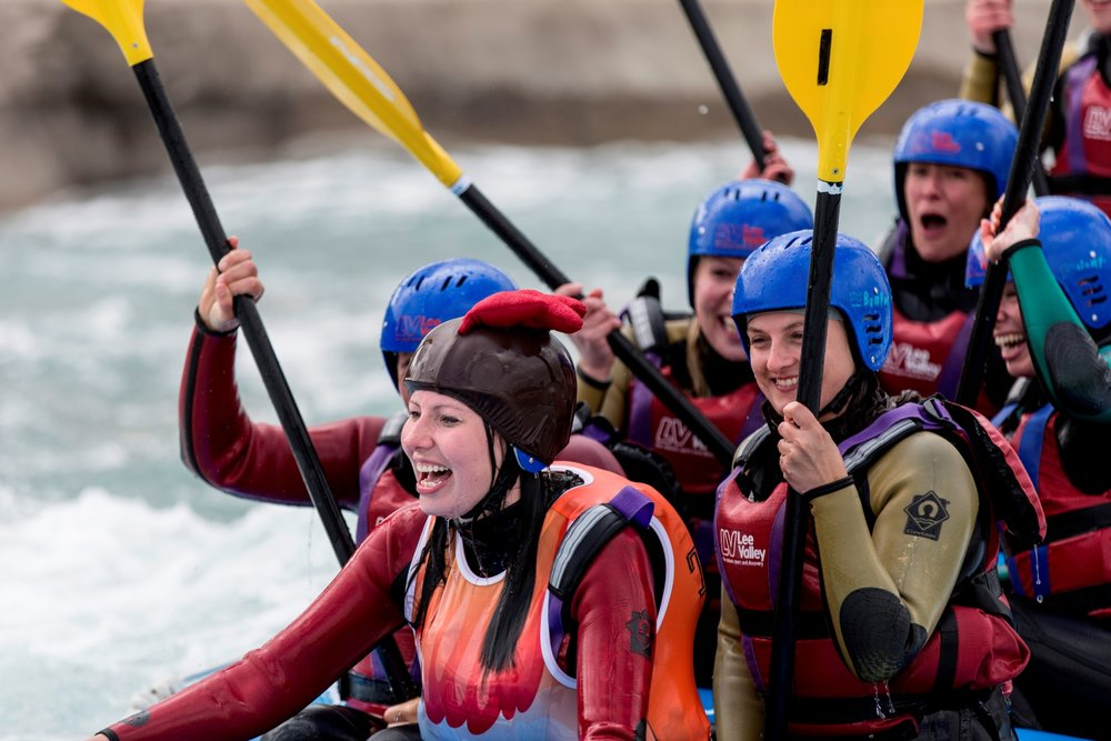 Days out in Essex White water rafting lee valley
