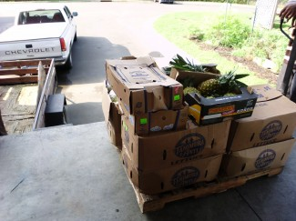 produce on loading dock