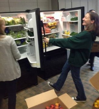 Enloe school pantry fridge