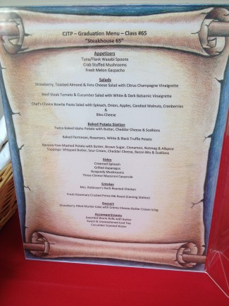 CJTP Menu 65th Graduation