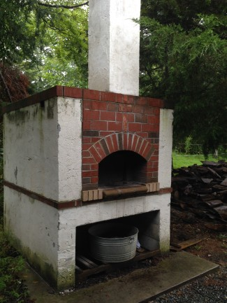 Outdoor brick oven at Anathoth Community Garden & Farm in Cedar Grove (July 2014 CRAFT tour)