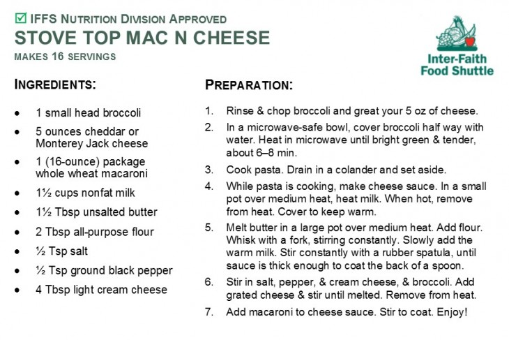 Stove Top Mac n Cheese recipe